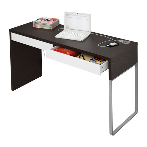 The micke desk by henrik preutz - Scrivanie in vetro ikea ...