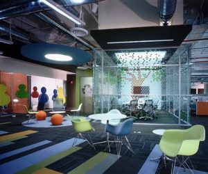 The New Colorful MSN Office in Santa Fe,Mexico