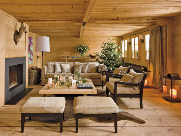chalet style stylish new year decorations in chalet style 8288