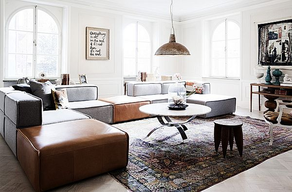 Spacious With Vintage Accents Interior Design Apartment In