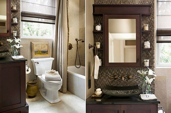 two small bathroom design ideas colour schemes - Small Bathroom Decorating Ideas Color