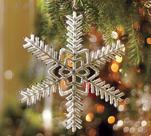 View in gallery. The sparkly snowflake suits just every Christmas tree and  ... - Awesome Christmas Tree Ornaments That Add Charm To Your Home