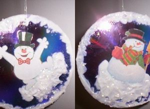 Joyful Snowman CD Christmas Tree Ornament