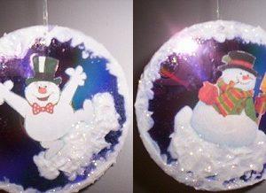 Joyful Snowman CD Christmas Tree Ornament