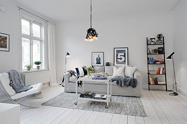 White Apartment inviting white swedish apartment with vintage fireplaces