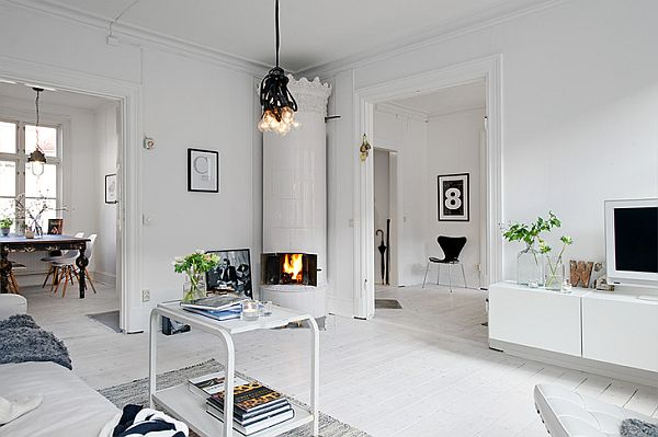 Swedish Apartment With Vintage Fireplaces