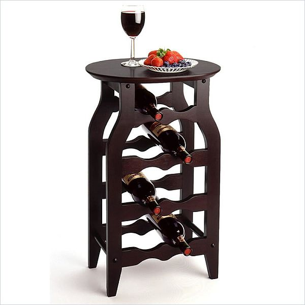 Lovely The Winsome 8 Bottle Oval Top Wine Rack Pictures