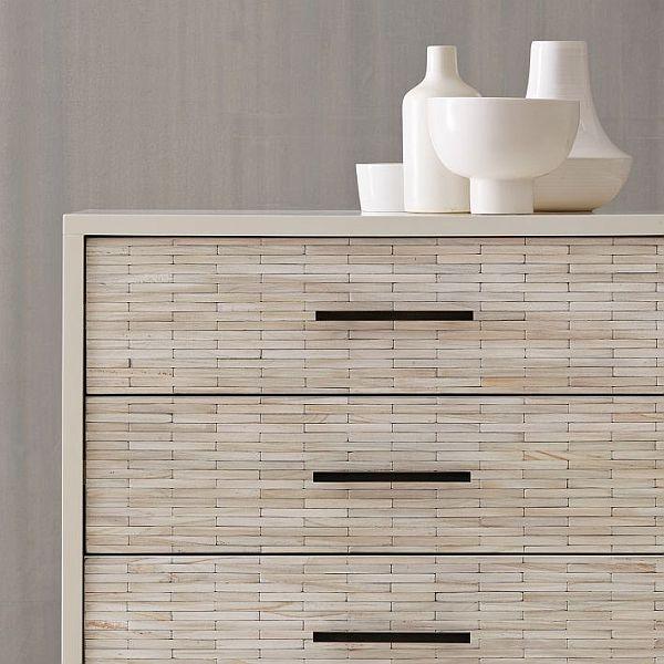 Modern wood tiled dresser for Cassettiere camera da letto design