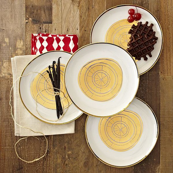 & David Stark Wood Slices Plates Set