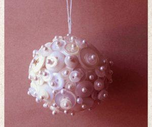 DIY Button Covered Christmas Ball