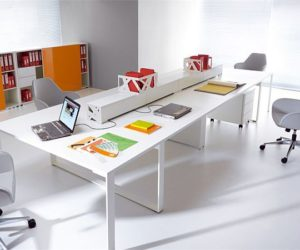 The adaptable Zig Zag workstation furniture for companies
