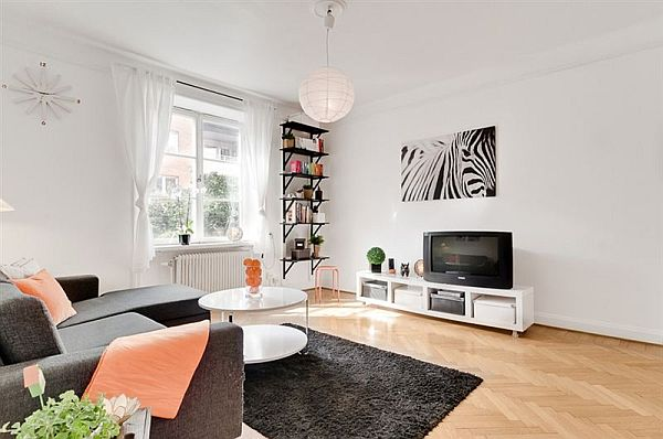 only 44 square meters charming 20th century apartment in. Black Bedroom Furniture Sets. Home Design Ideas