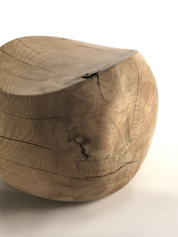 Ameda Solid Wood Stool By Benno Vinatzer