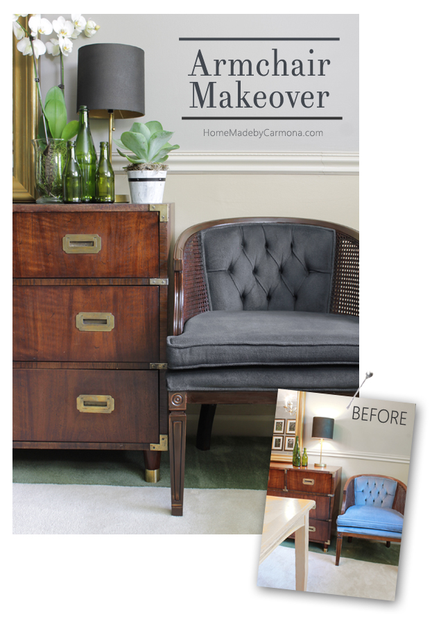 Armchair chalk makeover