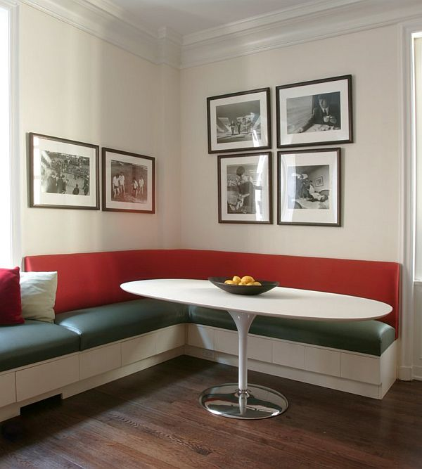 If You Have A Simple Colored Dining Room, A Colored Banquette ...