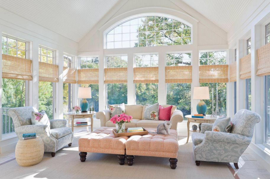 Beautiful and big sunroom design