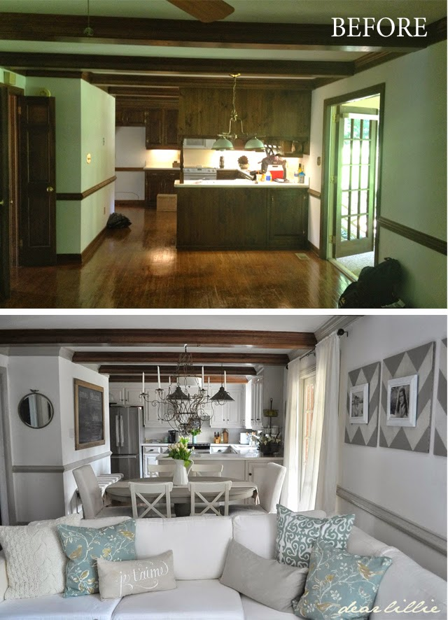 Before and after kitchen dining room
