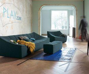 The contemporary Bahir easy chair by Jörg Boner