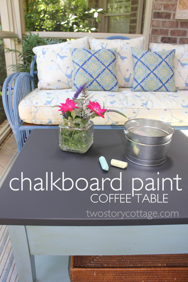 Chalkboard paint coffee table
