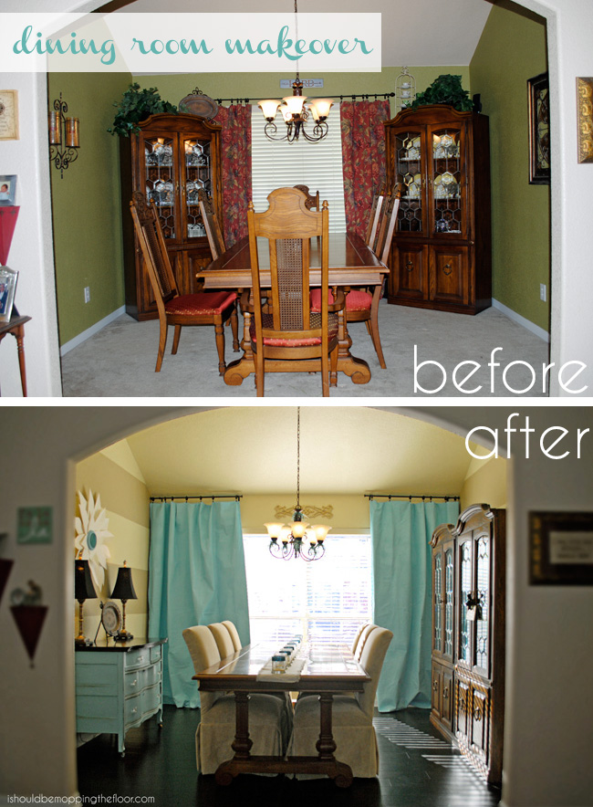 Clean dining room makeover