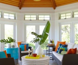 Fresh Sun Room Design Concept Infused With Color And Style