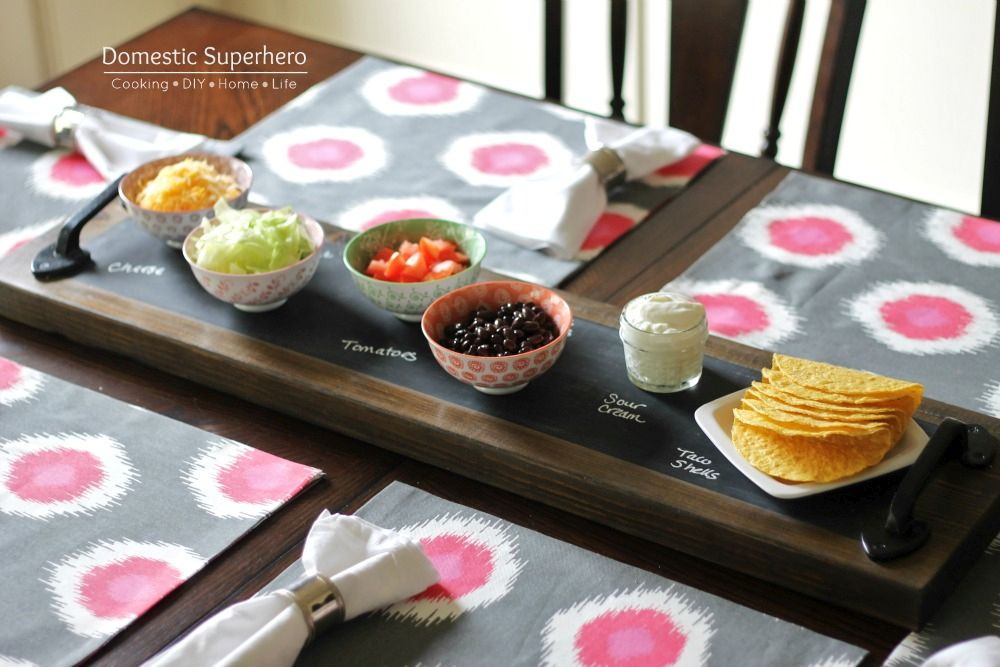 Cool Chalkboard Serving Tray