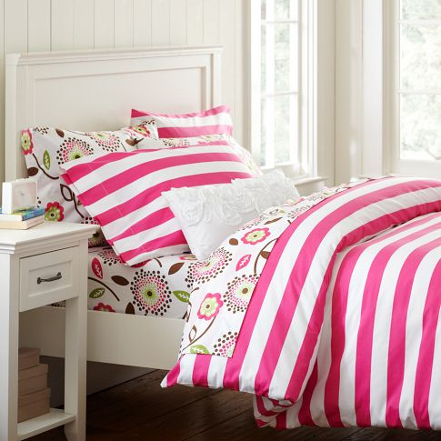 The Cheerful Cottage Stripe Duvet Cover U0026 Pillowcase Set