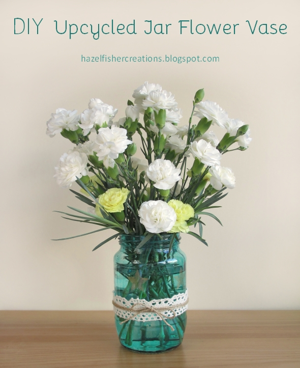 DIY Upcycling painted jar flower vase
