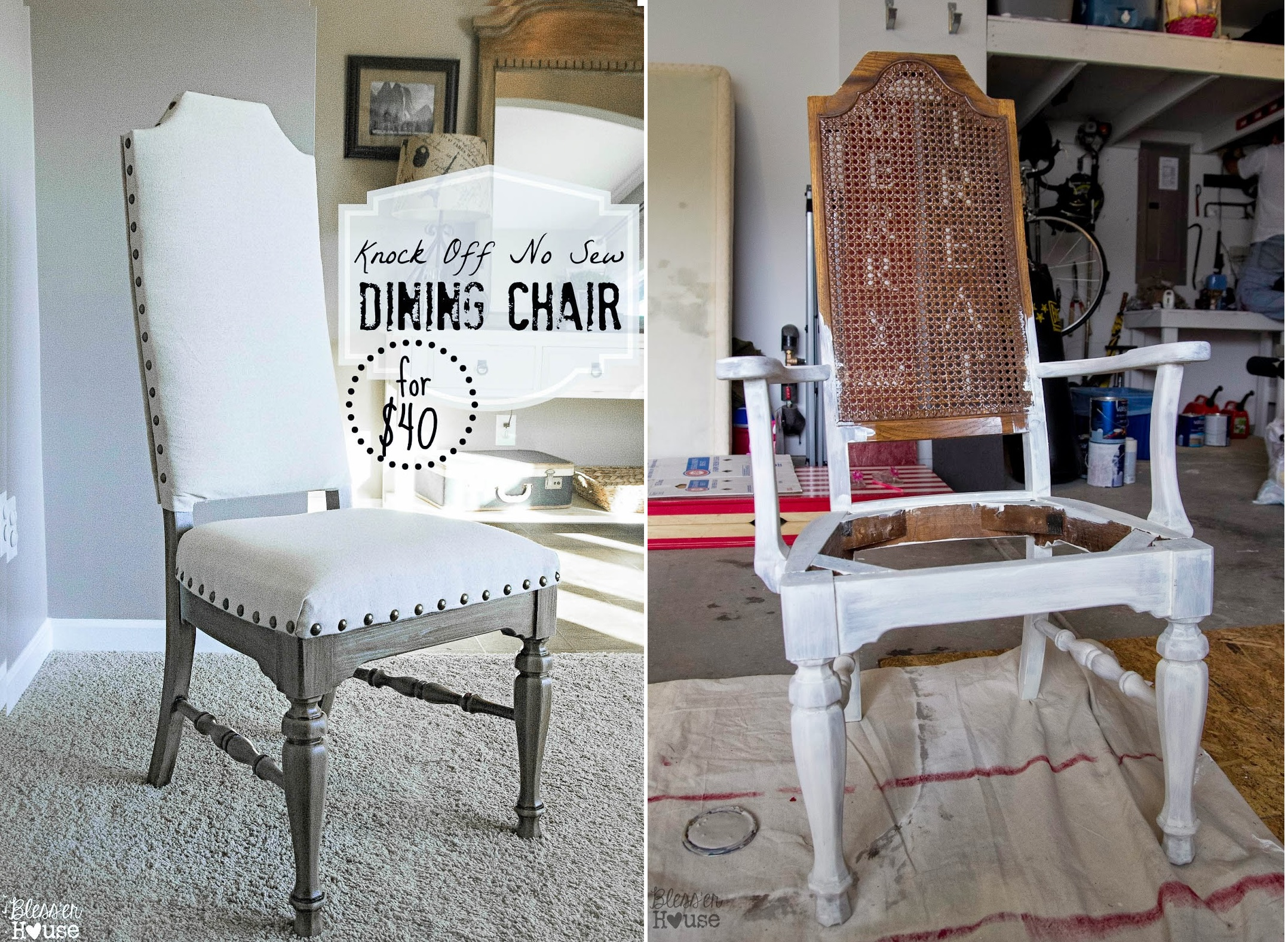 Dining chair makeover project