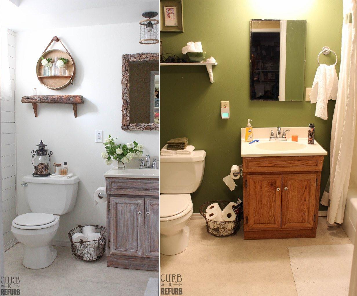 Dramatic bathroom change