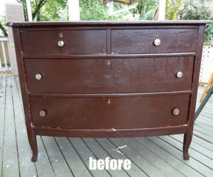 Elegant vintage dresser makeover