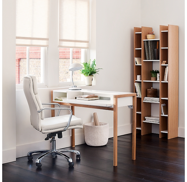 The Stylish Oak White Farringdon Desk