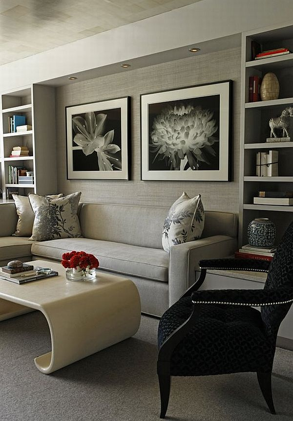 21 gray living room design ideas for Ideas for black and grey living room