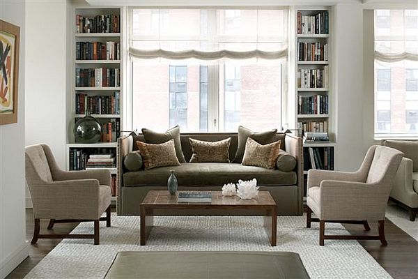 view - Grey And Brown Living Room
