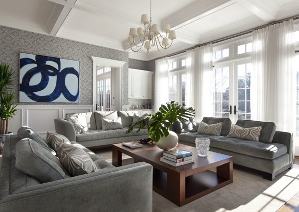Gray Living Room Design Ideas - Living room color schemes gray