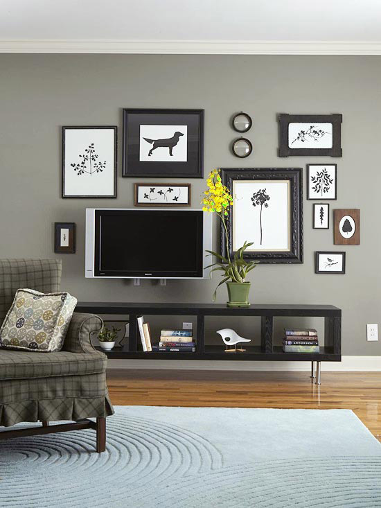 contrasts - Grey And Brown Living Room