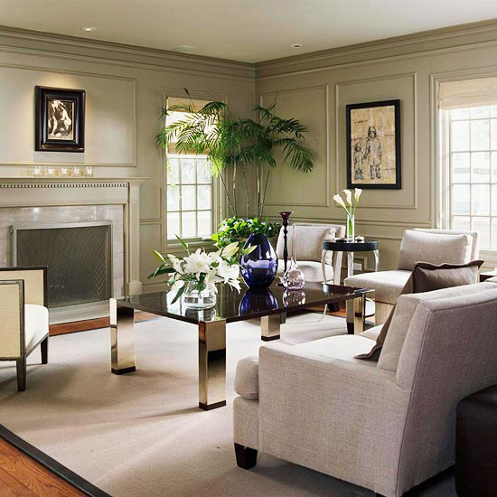 Gray Living Room Design Ideas - Green living rooms ideas