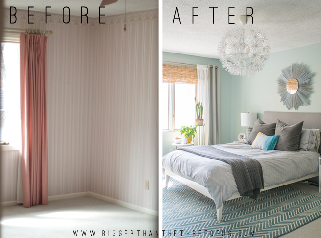 Master bedroom before and after reno