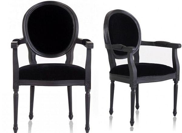Marvelous New Louis Black Armchair Camellatalisay Diy Chair Ideas Camellatalisaycom