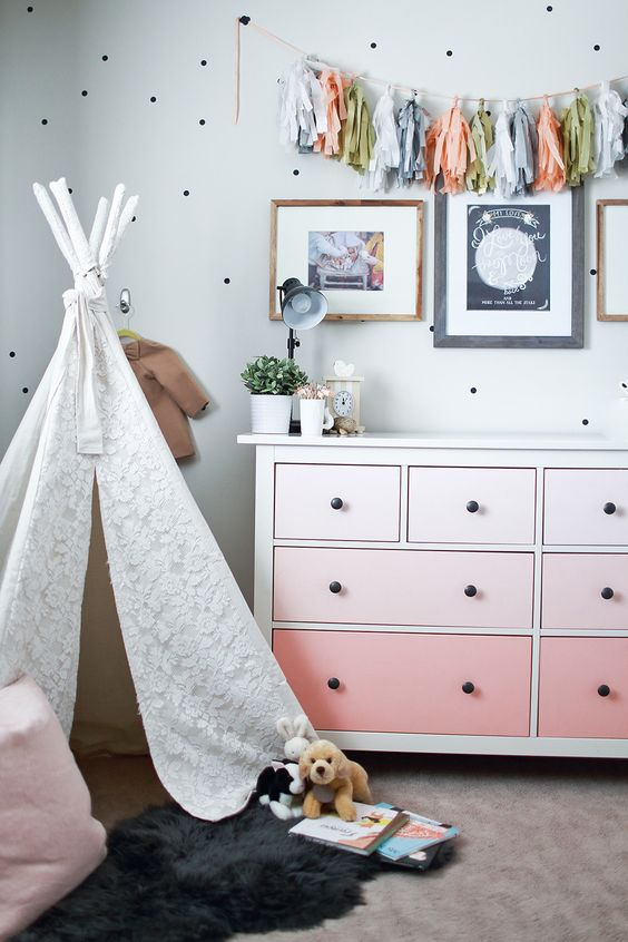 Nursery ombre changing table