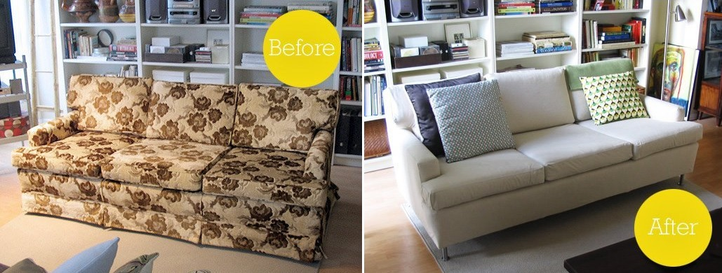 Old sofa makeover