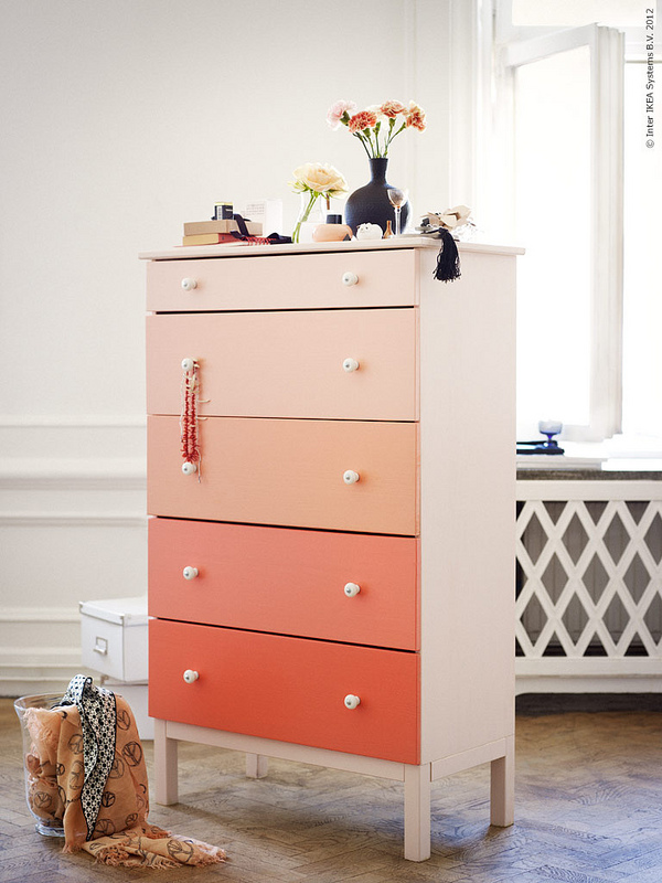 Ombre diy dresser from ikea