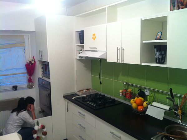 View In Gallery. The Green Choosed For The Backsplash ...