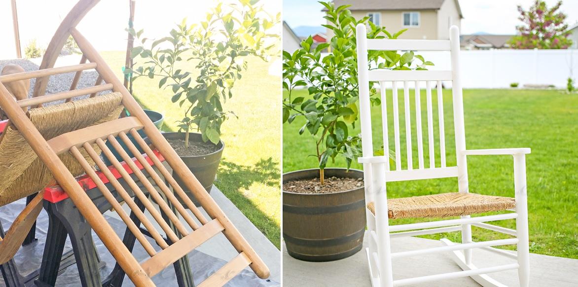 Porch chair makeover design