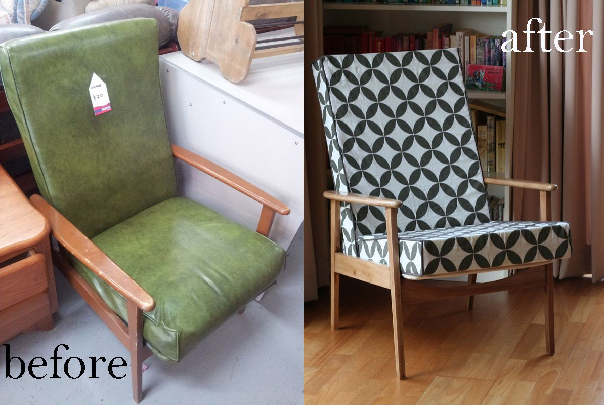 Retro before and after chair