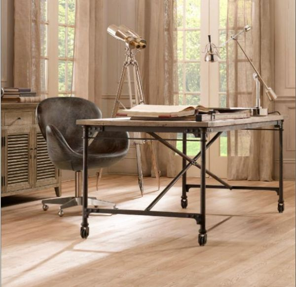 how to build a rustic desk