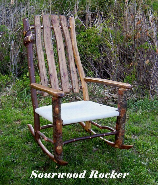 Traditional Sourwood Rocking Chair Photo
