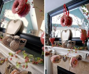 Valentine's Day mantel decoration ideas
