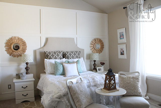 White bedroom makeover after