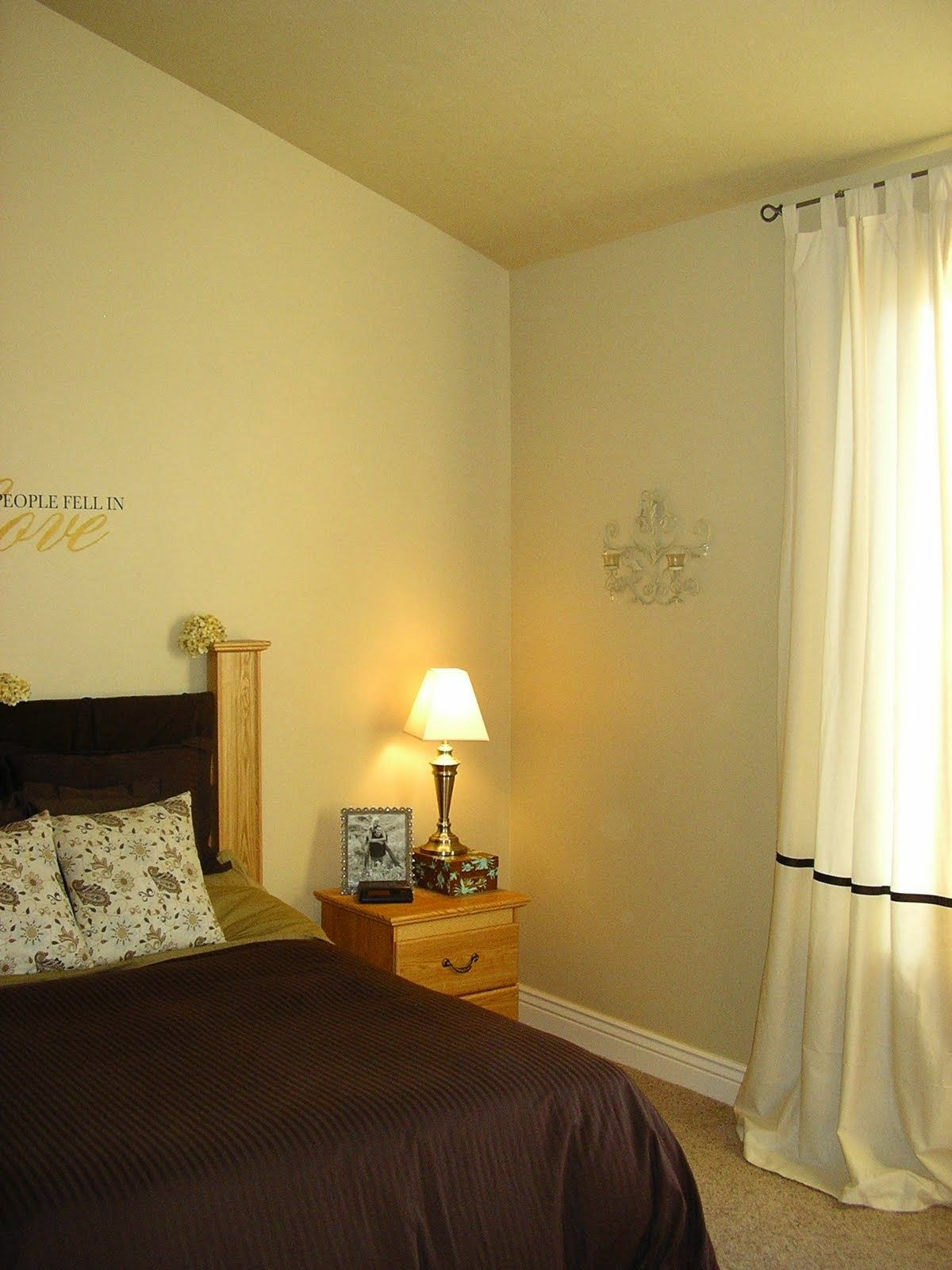 White color palete bedroom makeover before